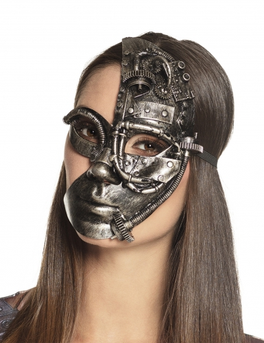 Demi masque robot Steampunk femme