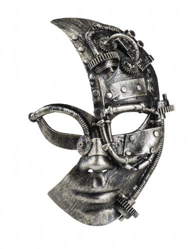 Demi masque robot Steampunk femme-1