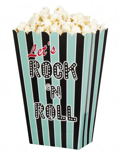 4 Pots pop corn Rock'n roll 33 x 23 x 17 cm