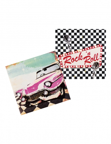 12 Serviettes Rock'n roll 33 x 33 cm