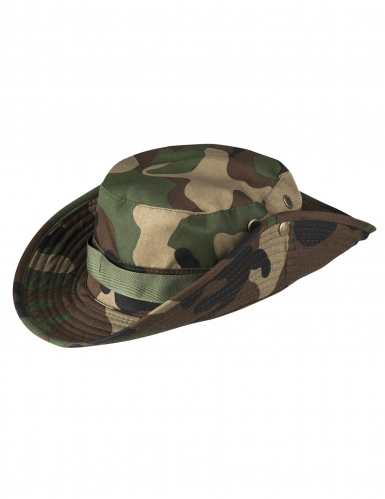 Chapeau camouflage militaire adulte-1