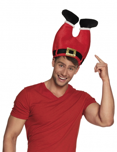 Chapeau pantalon du Père Noël adulte-1