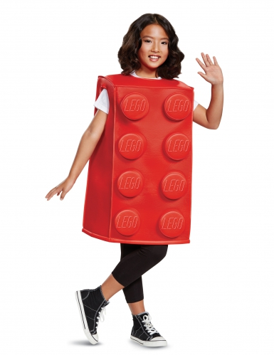 Déguisement brique Lego® rouge enfant