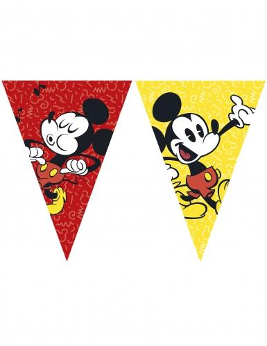 Guirlande 9 fanions Mickey™ rétro 26 cm x 2.3 m