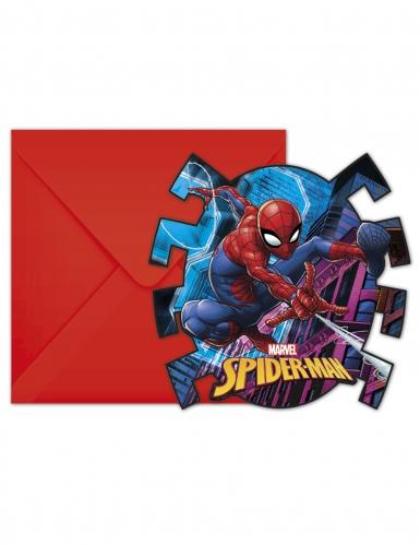 6 Cartons d'invitation avec enveloppes Spiderman™