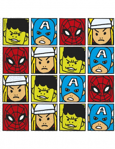 20 Serviettes en papier Avengers™ pop comic 33 x 33 cm