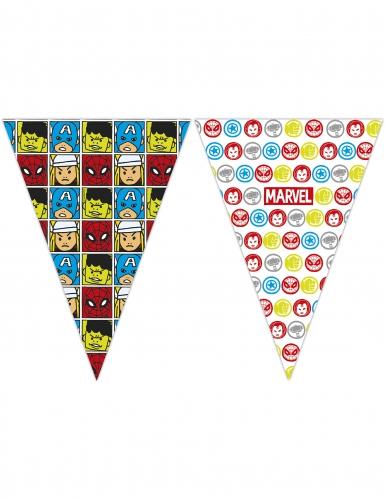 Guirlande à fanions Avengers™ pop comic 2,3 x 25 cm