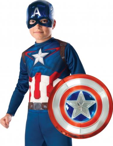 Kit masque et bouclier métallisé Captain America™ enfant