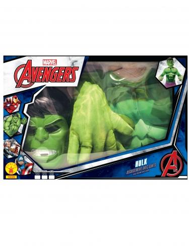 Coffret classique Hulk™ avec gants géants garçon-1