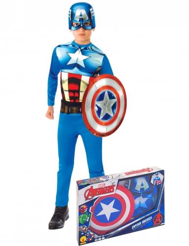 Coffret classique Captain America™ avec bouclier garçon