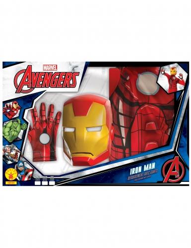 Coffret classique Iron Man™ avec gants garçon-1