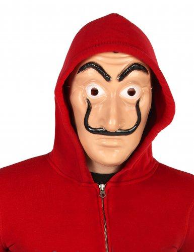 Déguisement et masque de voleur rouge adulte-2