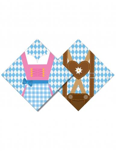 20 Serviettes en papier Oktoberfest 33 x 33 cm