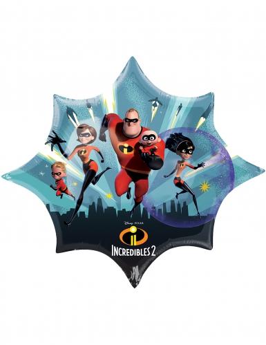 Ballon étoile aluminium Les Indestructibles™ 88 X 73 cm