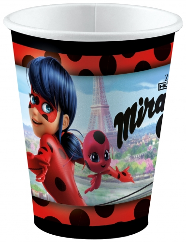 8 Gobelets en carton Ladybug™ à Paris 250 ml