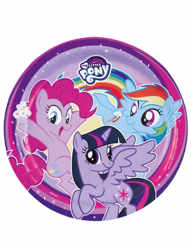 8 Assiettes en carton My Little Pony™ 23 cm