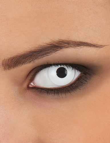 Lentille correction dioptrique œil blanc usage unique adulte
