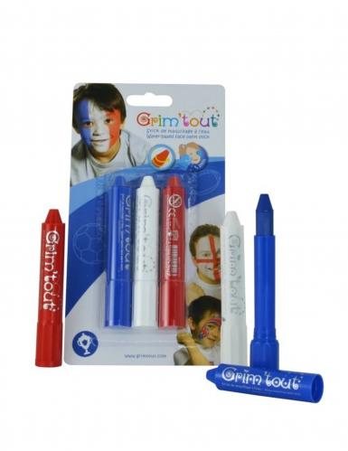 3 Sticks maquillage Bleu, Blanc et Rouge Grim'Tout-1