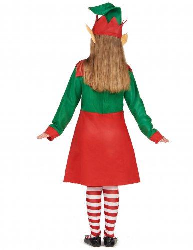 Déguisement robe elfe de Noël fille-2