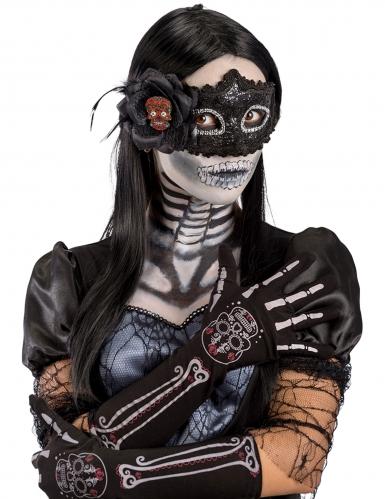 Gants squelette Dia de los muertos femme