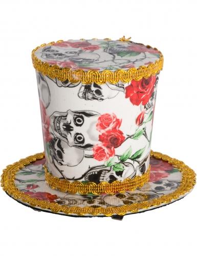Mini chapeau haut de forme Dia de los muertos femme-1