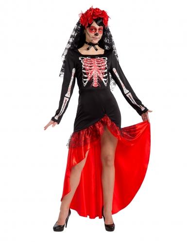 Déguisement danseuse flamenco Dia de los muertos femme