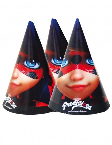 6 Chapeaux de fête Ladybug™ 16 x 11 cm