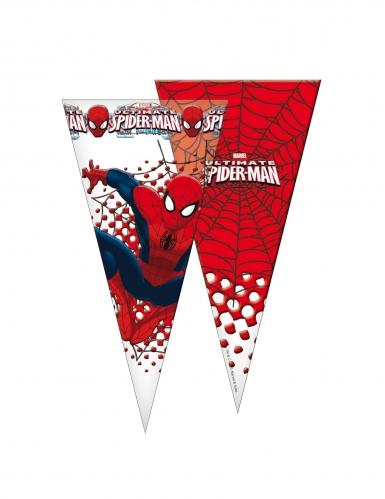 6 Sacs en forme de cône Spiderman™ 20 x 40 cm