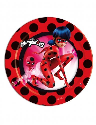 8 Petites assiettes en carton Ladybug™ 18 cm