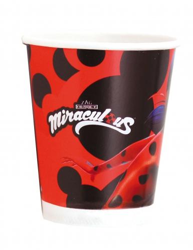 8 Gobelets en carton Ladybug™ 220 ml-1