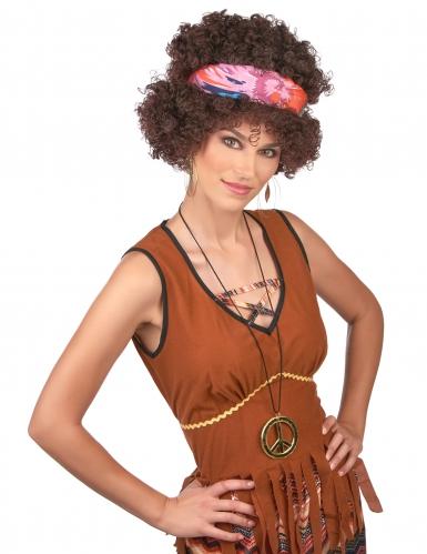Perruque afro hippie brune - 130 g-1