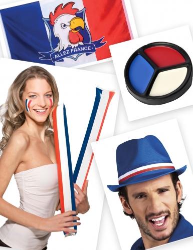 Kit supporter bleu blanc rouge