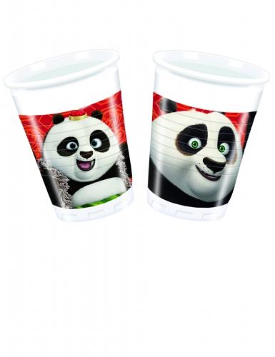 8 Gobelets en plastique Kung Fu Panda 3™ 200 ml