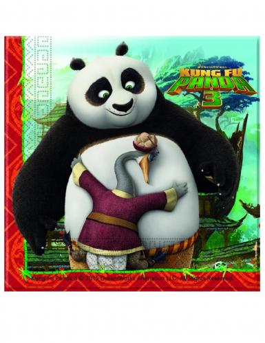 20 Serviettes en papier Kung Fu Panda 3™ 33 x 33 cm