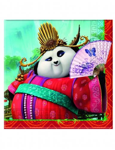 20 Serviettes en papier Kung Fu Panda 3™ 33 x 33 cm-1