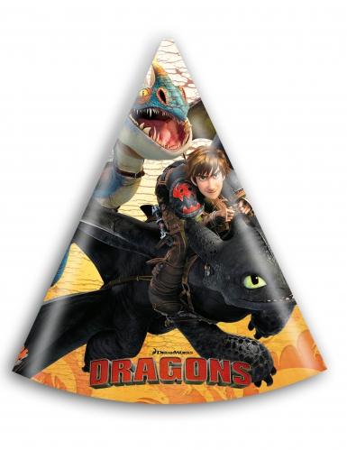 6 Chapeaux de fête Dragons™