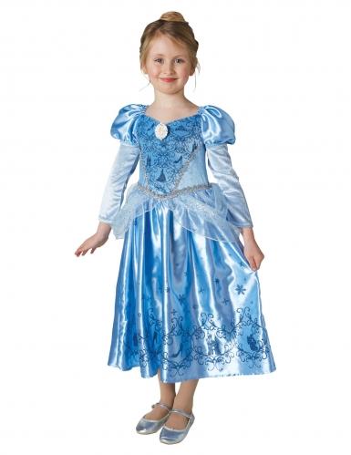 Déguisement princesse de l'hiver Cendrillon™ avec cape fille-1