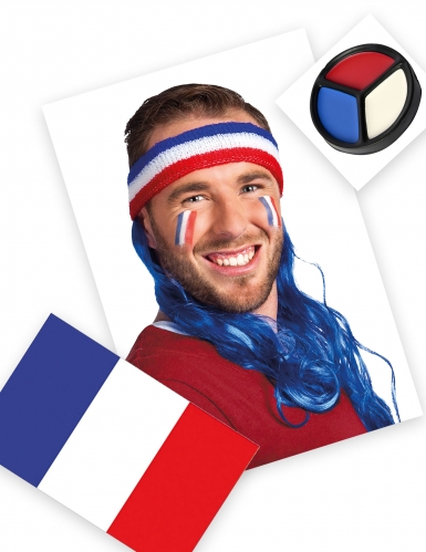 Pack supporter France bandeau mulet tricolore
