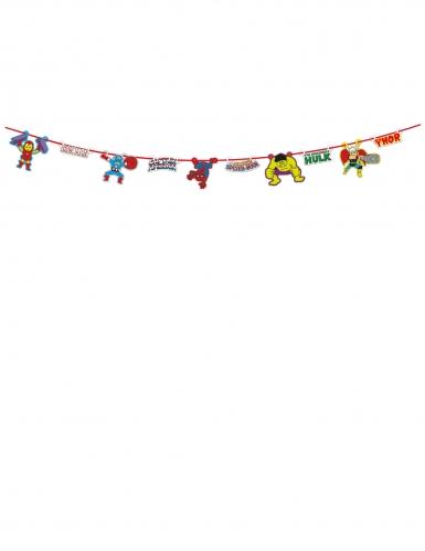 Guirlande en carton premium Avengers™ pop comic 100 x 18 cm