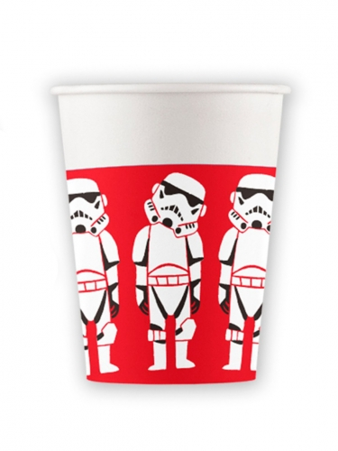8 Gobelets en carton premium Star Wars™ 260 ml