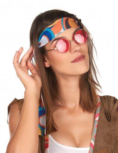 Kit accessoires hippie rétro adulte-2