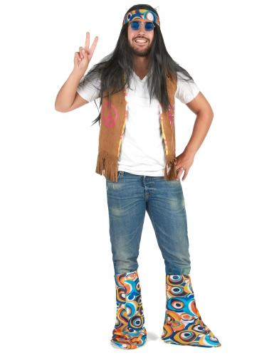 Kit accessoires hippie rétro adulte-3