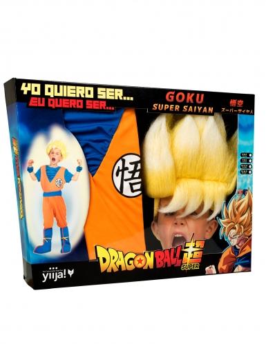 Coffret déguisement Super Saiyan Goku Dragon Ball™ enfant avec perruque-3