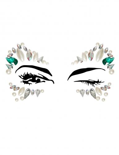 Bijoux pour visage adhésifs princesse adulte