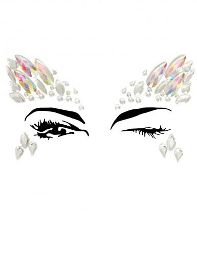 Bijoux pour visage adhésifs motifs céleste adulte
