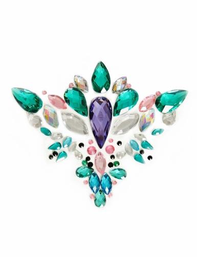 Bijoux pour visage adhésifs reine multicolore adulte-1