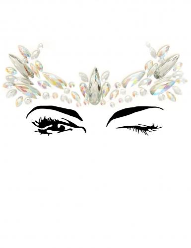 Bijoux pour visage adhésifs couronne adulte