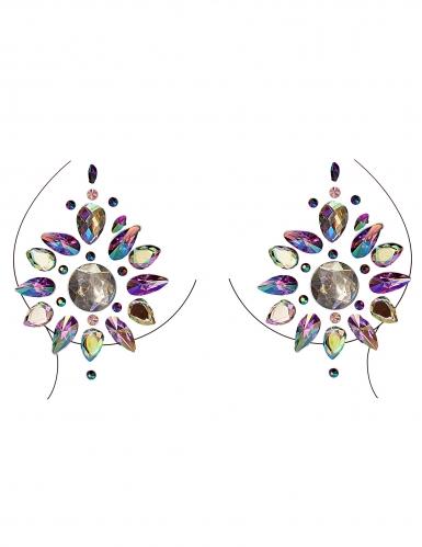 Bijoux pour décolleté et corps motifs multicolores adulte