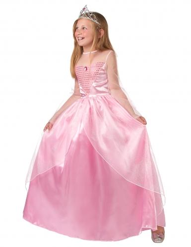 Déguisement princesse rose pour fille-1