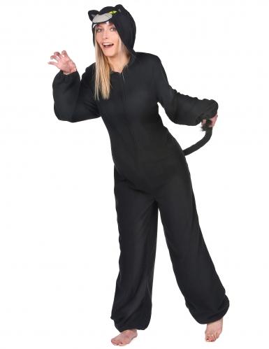 Déguisement combinaison panthère noire femme-1